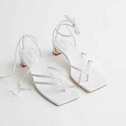 Thong Strap Heeled Leather Sandals | & Other Stories