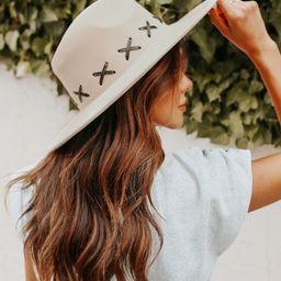 Criss Cross Beige Wide Brim Hat | Magnolia Boutique