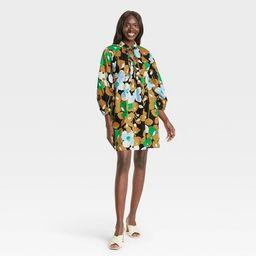 Women's Puff Long Sleeve A-Line Dress - Who What Wear™   Target