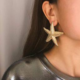 BERYUAN Halloween Statement Big Starfish Earrings Gold Star Earrings for Women Fashion Jewelry Casua   Amazon (US)