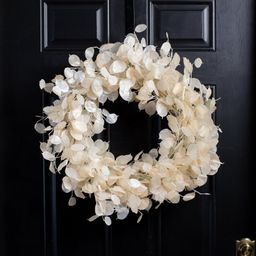 Dried Look Translucent Bleached Lunaria All Seasons Wreath | Wayfair Professional