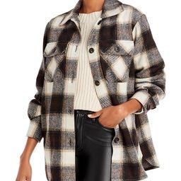AQUA                                                                Plaid Button Front Jacket | Bloomingdale's (US)