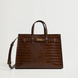 Croc-effect shopper bag   MANGO (US)