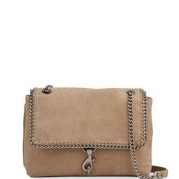 Rebecca Minkoff Edie Suede Woven Chain Flap Shoulder Bag   Neiman Marcus