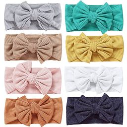Baby Headbands Hair Bow Nylon Elastics for Newborn Infant Girl Headband Bows Child Hair Accessori...   Amazon (US)