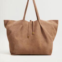 Leather shopper bag   MANGO (US)