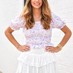 So Sophisticated Top - Lavender Floral | The Impeccable Pig