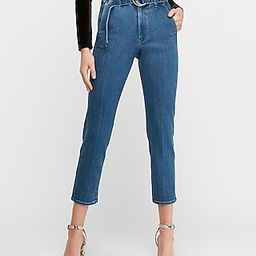 Super High Waisted Belted Paperbag Jeans, Women's Size:8   Express