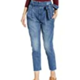 DL1961 Women's Susie High Rise Paperbag Tapered Jeans, Aberdeen, 26   Amazon (US)