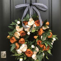 Fall Front Door Wreaths Coffee and Cream Premium Peony | Etsy | Etsy (US)
