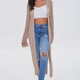 Marled Duster Cardigan Sweater | Forever 21 (US)