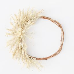 """Dried Grass and Grain Hoop Grapevine Wreath - 18""""   Afloral (US)"""