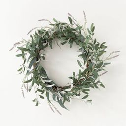 """26"""" Artificial Olive/Eucalyptus Leaf with Lavender Wreath - Threshold™ designed with Studio McG...   Target"""