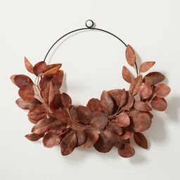 """18"""" Asymmetrical Faux Rusted Eucalyptus Wire Wreath - Hearth & Hand™ with Magnolia   Target"""