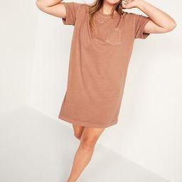 Loose Vintage Garment-Dyed T-Shirt Shift Dress for Women   Old Navy (US)