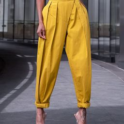 The Drop Women's Citronelle Sculpted Pleat Pull-on Pants by @signedblake   Amazon (US)