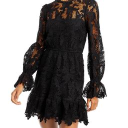 AQUA                                                                Lace Mini Dress - 100% Exclus... | Bloomingdale's (US)