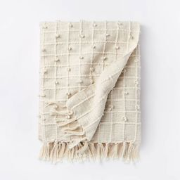 Woven Cotton Textured Loop Throw Blanket Cream - Threshold™ designed with Studio McGee | Target