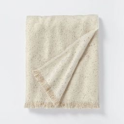 Boucle Faux Mohair Throw Blanket Cream/White - Threshold™ designed with Studio McGee   Target