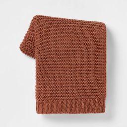 Nep Yarn Knit Throw Blanket - Threshold™ | Target