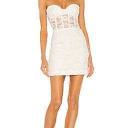 Bardot Lace Corset Mini Dress in Ivory from Revolve.com | Revolve Clothing (Global)