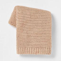 Nep Yarn Knit Throw Blanket - Threshold™   Target