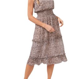Sleeveless Mock Neck Floral Dress | Nordstrom | Nordstrom
