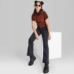 Women's Super-High Rise Flare Jeans - Wild Fable™ Black   Target