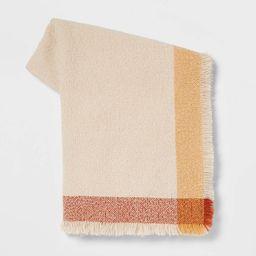 Acrylic Throw Blanket with Border Grid - Threshold™   Target