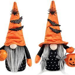 D-FantiX Halloween Gnomes Plush Decor, 2 Pack Handmade Tomte Swedish Gnome Nisse Scandinavian Gno... | Amazon (US)