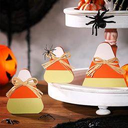 3 Pieces Halloween Wooden Candy Corns Decor Wood Shelf Sitters Candy Corns Standing Wood Hallowee... | Amazon (US)