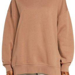 Sportswear Collection Essentials Oversize Fleece Crew Sweatshirt   Nordstrom   Nordstrom