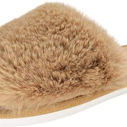 HUMIWA Women's Fuzzy Fur Flat Slippers Soft Open Toe House Slippers Memory Foam Sandals Slides Home  | Amazon (US)