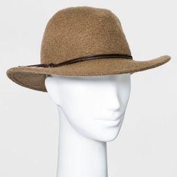 Women's Knit Fedora Hat - Universal Thread™ Taupe | Target