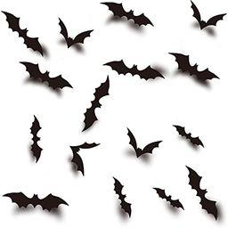 84pcs Halloween Party Supplies PVC 3D Decorative Scary Bats Wall Decal Wall Sticker, Halloween Ev...   Amazon (US)