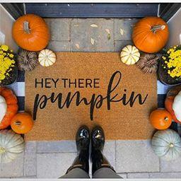 Hey There Pumpkin Coir Doormat,Rustic Door Welcome Mats for Indoor/Outdoor, Entrance Rug Mats for...   Amazon (US)