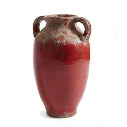 Amalfi Urn with Handles Rosso Red - N/A   Overstock