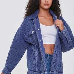 Drop-Sleeve Quilted Jacket   Forever 21 (US)