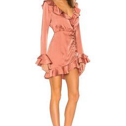 MAJORELLE Nelly Mini Dress in Terracotta Brown from Revolve.com | Revolve Clothing (Global)