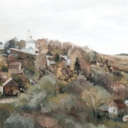 Village in the Valley   Collection Prints