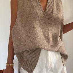 Lyla Oversized Knit Vest   Storets (Global)