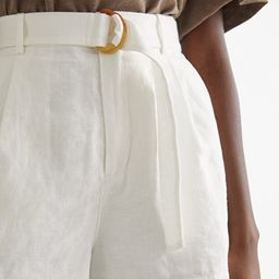 Belted Linen Pleat Shorts | & Other Stories