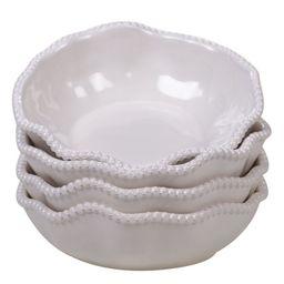 4pc Cream White Perlette All Purpose Bowls | Walmart (US)