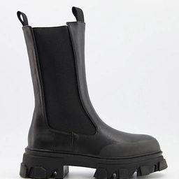 Public Desire Boston chunky chelsea boots in black   ASOS (Global)