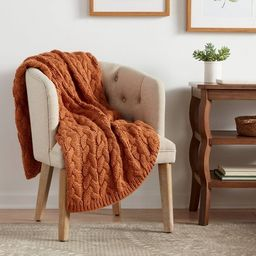 Solid Chunky Cable Knit Throw Blanket - Threshold™   Target