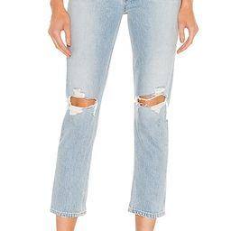 Riley High Rise Straight Crop in Clear Skies   Revolve Clothing (Global)