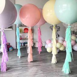 36 inches JUMBO PASTEL Balloon - Macaron Balloon, Candy Balloon, Soft Pastel Balloon, Rainbow Bal... | Etsy (US)