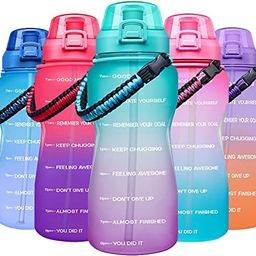 Giotto Large Half Gallon/64OZ Motivational Water Bottle with Paracord Handle & Straw - Leakproof ... | Amazon (US)