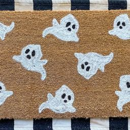 Ghost doormat  Halloween doormat  Halloween decor  spooky | Etsy | Etsy (US)