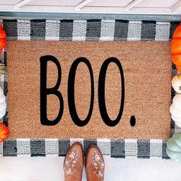 Boo Doormat  Fall Doormat   Halloween Doormat   Halloween | Etsy | Etsy (US)
